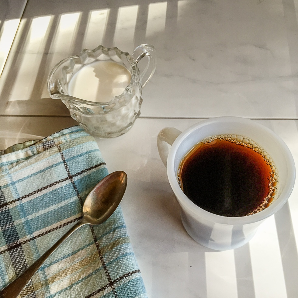 a beautiful cup of coffee in the morning