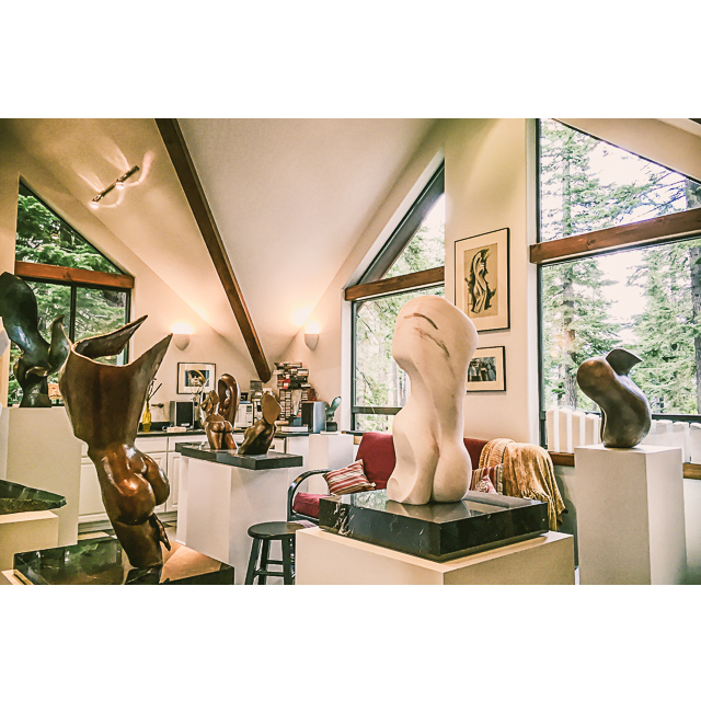 Sculptor David Foster's Studio